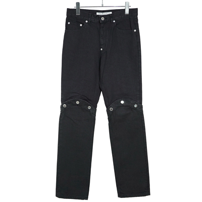 JOHN LAWRENCE SULLIVAN [ KNEE BUTTON JEANS ] BLACK