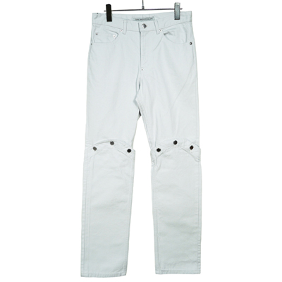 JOHN LAWRENCE SULLIVAN [ KNEE BUTTON JEANS ] WHITE