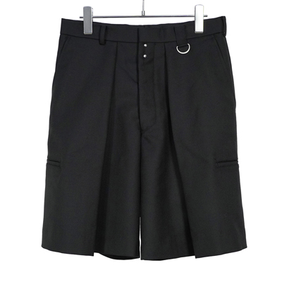 JOHN LAWRENCE SULLIVAN [ WIDE TUCK SHORTS ] BLACK