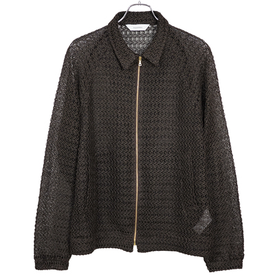 "Sasquatchfabrix. [ ""GOZA"" MESH SPORTS JACKET ] DARK BROWN"