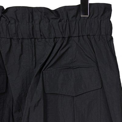 Sasquatchfabrix. [ NYLON HIGH WAIST SHORTS ] BLACK