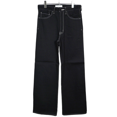 Sasquatchfabrix. [ FLARE SILHOUETTE 5POCKET PANTS ] BLACK