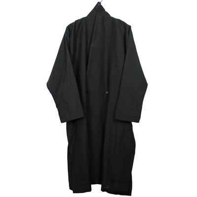 YANTOR [ Linenwool Slit Coat ] BLACK