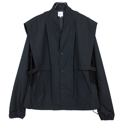 Sasquatchfabrix. [ ORIENTAL SHOULDER NYLON JACKET ] BLACK