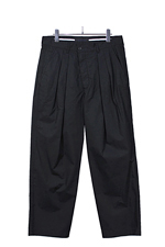 BLACK&BLUE [ Two Tuck Wide Trousers ] ブラック