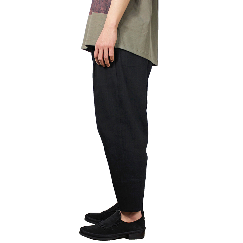 YANTOR [ Amunzen Cotton Himo Pants ] BLACK