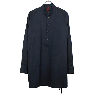 YANTOR [ Torowool Long Shirts ] NAVY