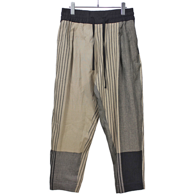 YANTOR [ Stripe KhadiCotton merge Pants ] BEIGE