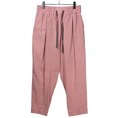 YANTOR [ LinenCotton Taperd Gom Pants ] PINK