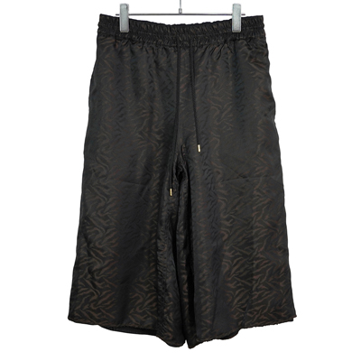 "Sasquatchfabrix. [ ""ANIMAL"" REVERSIBLE SHORTS ] BLACK×BROWN"