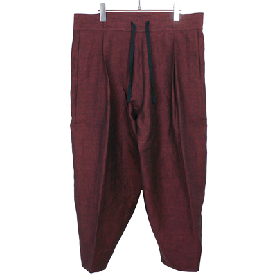 YANTOR [ Linenwool Himo Pants ] RED