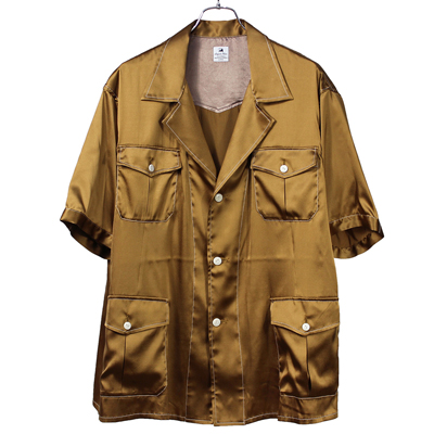 Sasquatchfabrix. [ SILK SAFARI SHIRT ] GOLD