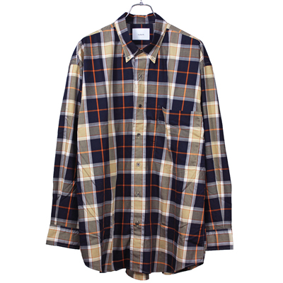 "nuterm [ ""The Earl"" B.D. Shirt ] ブラウンチェック"