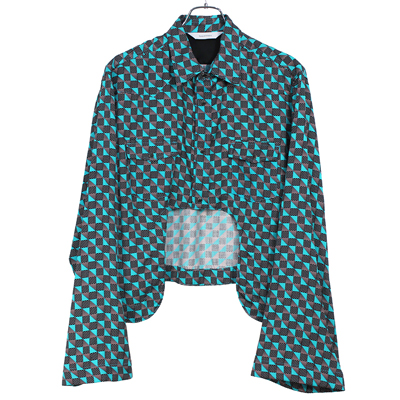 Sasquatchfabrix. [ 50's BOLERO SHIRT ] BLACK×GREEN