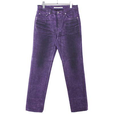 JOHN LAWRENCE SULLIVAN [ 5POCKET FLOCKED DENIM PANTS ] PURPLE