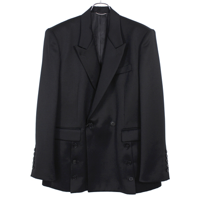 JOHN LAWRENCE SULLIVAN [ FRONT SIDE BUTTONED JACKET ] BLACK