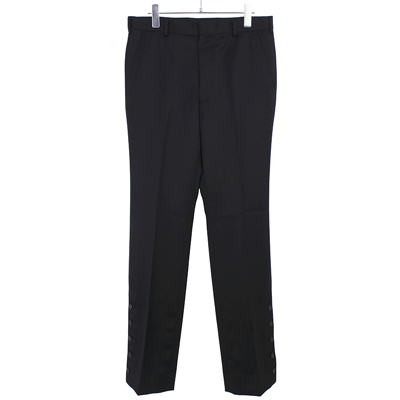 JOHN LAWRENCE SULLIVAN [ SLITED TROUSERS ] BLACK