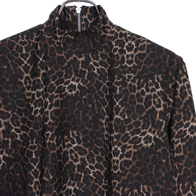 JOHN LAWRENCE SULLIVAN [ HI-NECK TOP ] LEOPARD