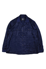 bukht [ OPEN COLLAR SHIRT ] NAVY