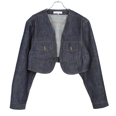 Sasquatchfabrix. [ BOLERO DENIM JACKET ] NAVY