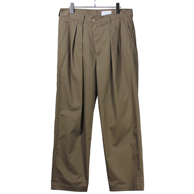 nuterm [ Two Tuck Wide Trousers ] オークブラウン