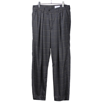 nuterm [ Two Tuck Wide Trousers ] グレンチェック