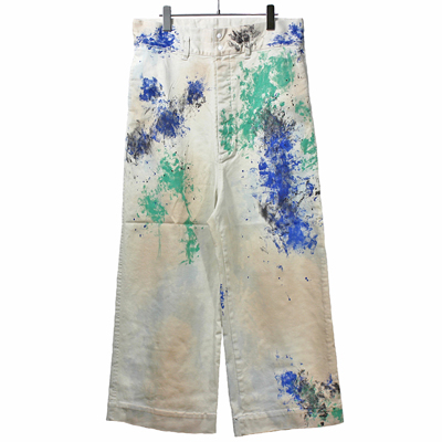 Sasquatchfabrix. [ PAINT DOCAN PANTS ] WHITE
