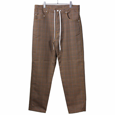"nuterm [ ""Steel"" Easy Baggy Trousers ] ブラウンチェック"