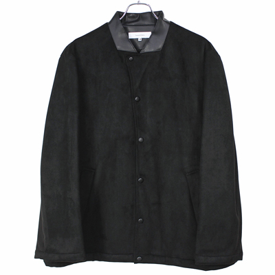 Sasquatchfabrix. [ FAKE SUEDE COACH JACKET ] BLACK