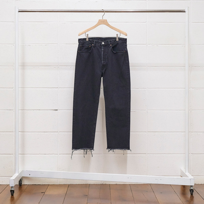 UNUSED [ UW0826 (13oz denim cut off pants) ] BLACK SHORT LENGTH