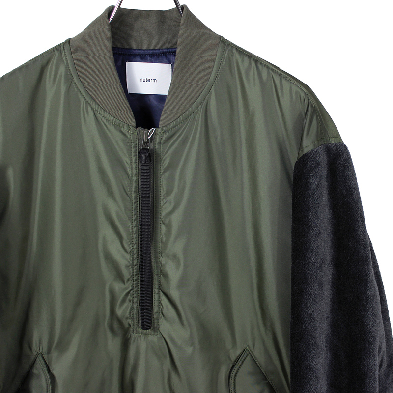 nuterm [ Pull Over Bomber Jacket ] O.D.