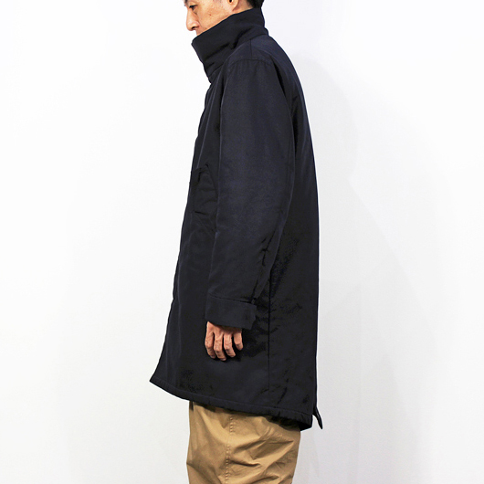 "nuterm [ HOOD""LESS"" MODS COAT ] ブラック"