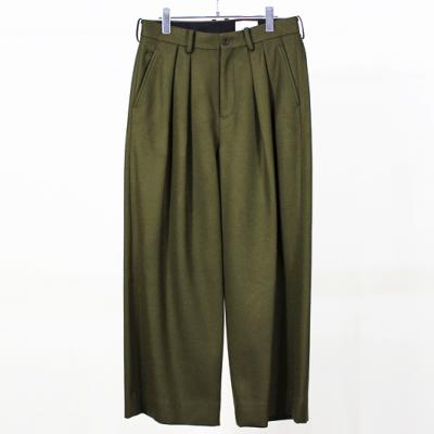 nuterm [ MELTON WIDE TROUSERS ] カーキ