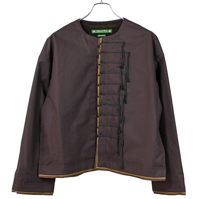 "Sasquatchfabrix. [ ""SENSOU"" OILED JACKET ] BROWN"