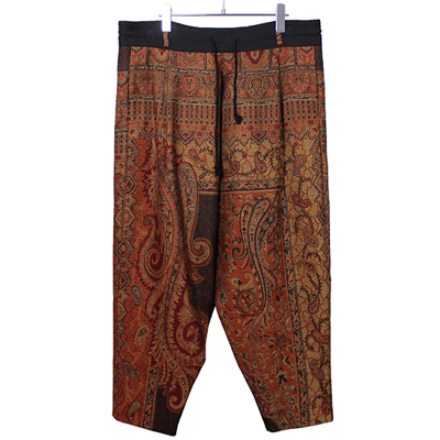 YANTOR [ Paisley Jacquard Wool Himo Pants ] ORANGE
