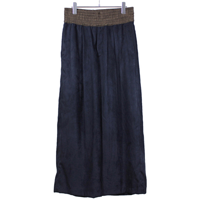 YANTOR [ Suede Jarsey Wide Pants ] NAVY