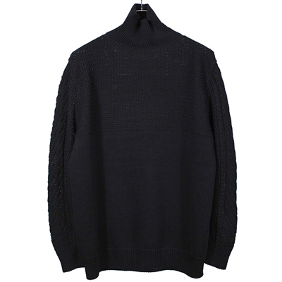 YANTOR [ Cotton Turtle Knit ] BLACK