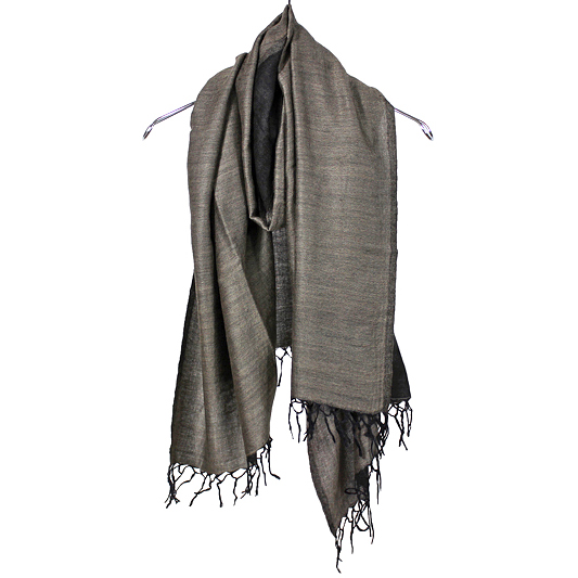YANTOR [ Handwoven Wool Stole ] BLACK