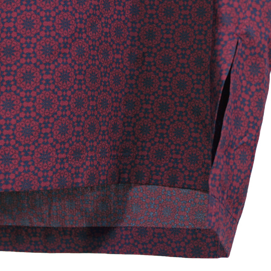 YANTOR [ Geometric Wide Pullover ] WINE RED