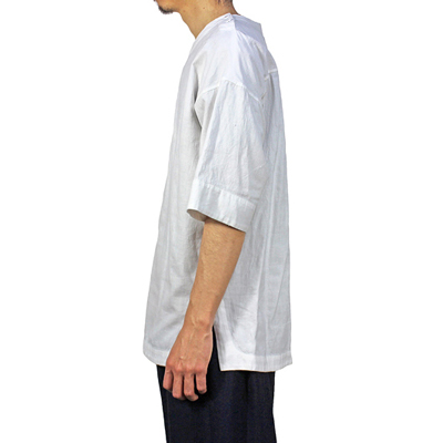YANTOR [Khadi Cotton Doctor Pullover Shirts] WHITE