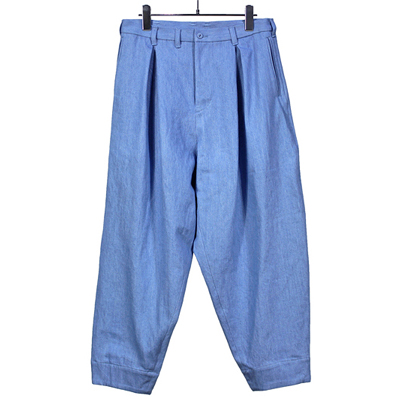 YANTOR [ Bleach 10oz Denim 1tuck Pants ] LIGHTBLUE