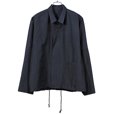 YANTOR [ Slab Linen Wool Box Jacket  ] DARK NAVY