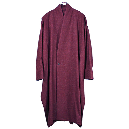 YANTOR [ Boucle Milled Wool Slit Coat ] WINE RED