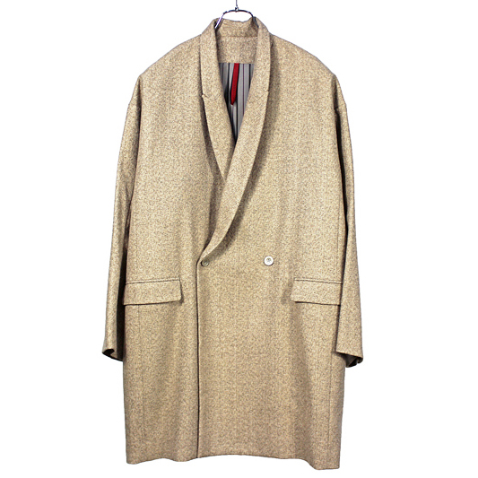 YANTOR [ Tweed Wool Long Jacket ] BEG