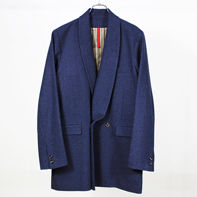 YANTOR [ Boucle Milled Wool Jacket  ] NAVY