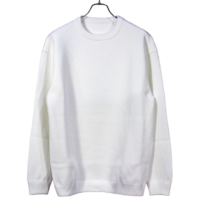 crepuscule [ moss stitch L/S sweat ] White