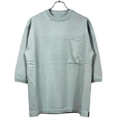 crepuscule [ pocket knit tee 3/4 ] Sax