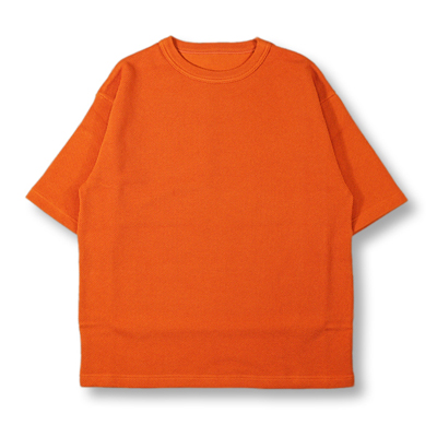 crepuscule [ Highgage Moss Stitch Cutsew ] Orange