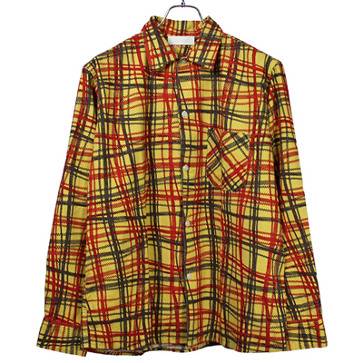 "NEON SIGN [ FLANNEL SHIRT ""UNIVERSAL CHECK"" ] CYE"