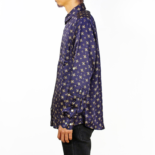 "NEON SIGN [ STRAP SLEEVE SHIRT""PLOVER"" ] NVY"
